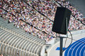 Loudspeaker in stadium Royalty Free Stock Photo