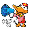 Loudspeaker to promote Korea duck Stock Photography