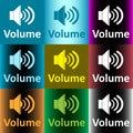 Loudspeaker and volume clipart