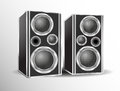 Loudspeakers music speakers the sound of music Royalty Free Stock Photo