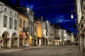 Louhans by night Stock Image