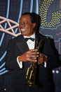 Louis armstrong wax statue of american jazz trumpeter and singer from new orleans image taken at the madame tussauds museum at las Royalty Free Stock Photos