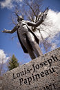 Louis joseph papineau on granite base statue of located in a town called saint denis sur richelieu quebec canada the statue is Stock Image