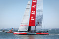 Louis vuitton cup race team luna rossa ac catamaran sailboat san francisco august races by in in on san francisco bay august in Stock Image