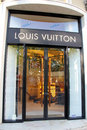 Louis vuitton fashion boutique entrance of situated in rua da liberdade lisbon portual photo take april Stock Photography