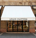 Louis Vuitton shop Royalty Free Stock Photography