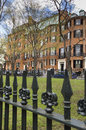 Louisburg Square on Beacon Hill, Boston, MA Royalty Free Stock Photo