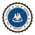 Louisiana flag badge.