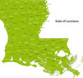 Louisiana map Royalty Free Stock Photo