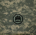 Louisiana National Guard Patch on ACU Royalty Free Stock Photo