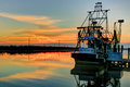 Louisiana Shrimp Boat HDR Royalty Free Stock Photo