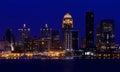 Louisville, Kentucky skyline at night Royalty Free Stock Photo