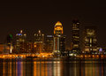 Louisville at Night Royalty Free Stock Photo