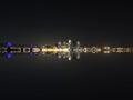 Louisville Skyline Reflection Royalty Free Stock Photo