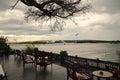 Lounge along the zambezi a beautiful spot for a drink river above victoria falls Stock Photography