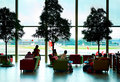 Lounge at changi airport singapore republic of singapore march people a international serves more than airlines Royalty Free Stock Image