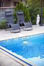 Lounge by the pool Royalty Free Stock Photography