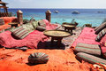Lounge on sharm beach Royalty Free Stock Photo
