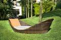 Lounge Sunbed In A Green Garden