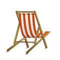Lounger sun with red stripe isolated on white background illustration Royalty Free Stock Images