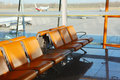 Lounges of Beijing airport Royalty Free Stock Photo