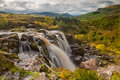 Loup fintry autumn the of waterfall north of glasgow scotland in autumnal colours Royalty Free Stock Images