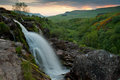 Loup of fintry the waterfall north glasgow scotland Stock Image