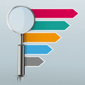 Loupe Colored Arrows Directions Infographic Mirror Royalty Free Stock Photo