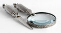 Loupe and Letter Opener Royalty Free Stock Photo