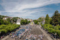 Lourdes june pilgrims all over world including many people disabilities hope miraculous healing come to outdoor mass shrine Stock Photos
