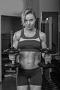 image photo : Beautiful blonde in the gym