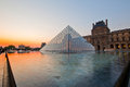 Louvre at dusk Royalty Free Stock Photography