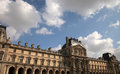 Louvre museum paris in daytime Stock Image