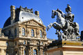 Louvre museum in paris france Royalty Free Stock Photography