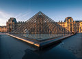 Louvre museum at sunset paris france april is one of the world s largest museums every year visits more than Stock Photos