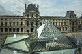 The louvre paris an outside view of Royalty Free Stock Images