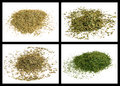 Lovage oregano dill summit thyme spice powder of Stock Photos