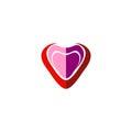 Love abstract heart logo
