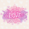Love abstraction background beautiful decorative element lace hearts for design Royalty Free Stock Photos