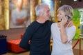 Love affair in cinema Royalty Free Stock Photo