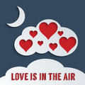 Love is in the air concept for Royalty Free Stock Images