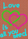 Love is all you need Royalty Free Stock Image