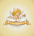 Love angel cupid for valentines day Royalty Free Stock Photo