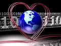 Love Around The Earth Royalty Free Stock Photos