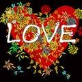 Love Background On Black
