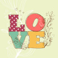 Love background cute vector illustration Royalty Free Stock Photo