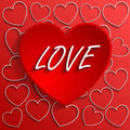 Love background heart to the valentines day vector Royalty Free Stock Images