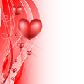 Love background with hearts Stock Photography