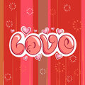 Love background vector illustration of typographic concept design Royalty Free Stock Photos