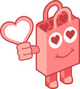 Love bag character vector illustration of separate layers for easy editing Royalty Free Stock Image